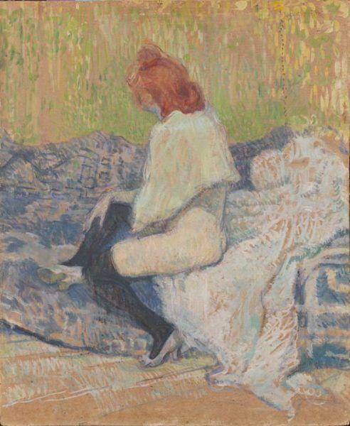 Henri de Toulouse-Lautrec, Rothaarige Frau (Justine Dieuhl), 1897, Öl auf Karton, 58,5 x 48 cm (Hahnloser/Jaeggli Stiftung, Winterthur, Schenkung Geschwister Jäggli, 1993)