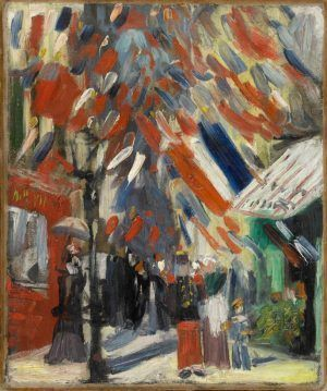 Vincent van Gogh, Das Fest des 14. Juli in Paris, 1886, Öl auf Leinwand, 44 x 39 cm (Privatsammlung, Villa Flora, Winterthur)
