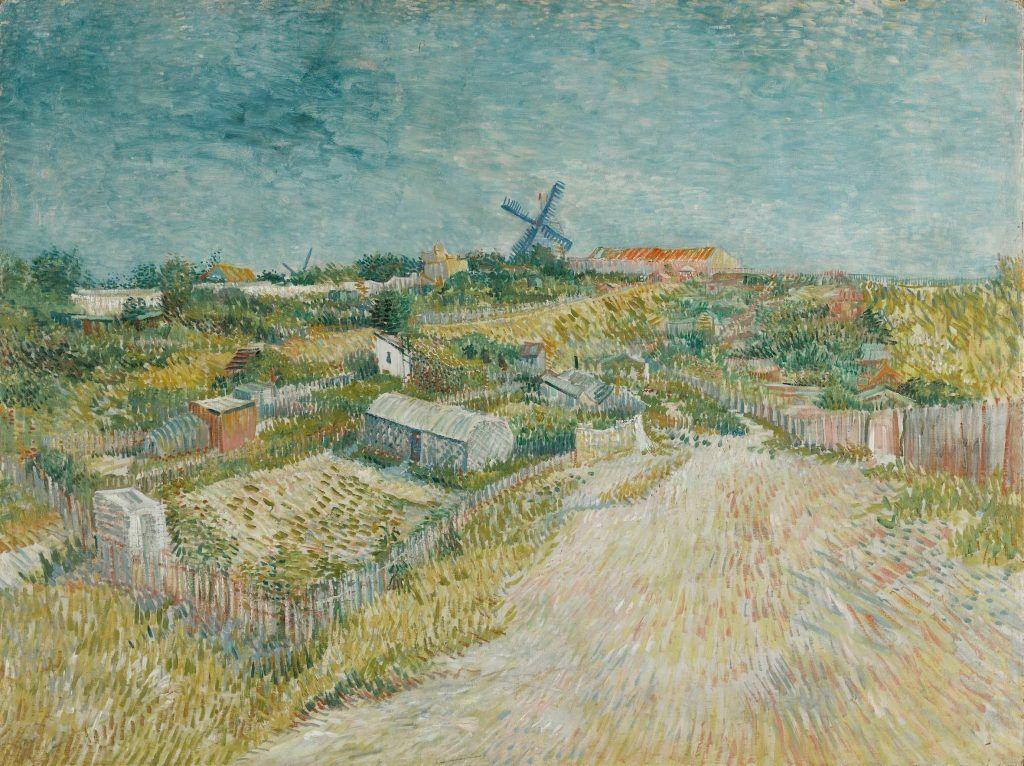 Vincent van Gogh, Gärten in Montmartre, 1887, Öl auf Leinwand, 96 x 120 cm (Stedelijk Museum, Amsterdam)