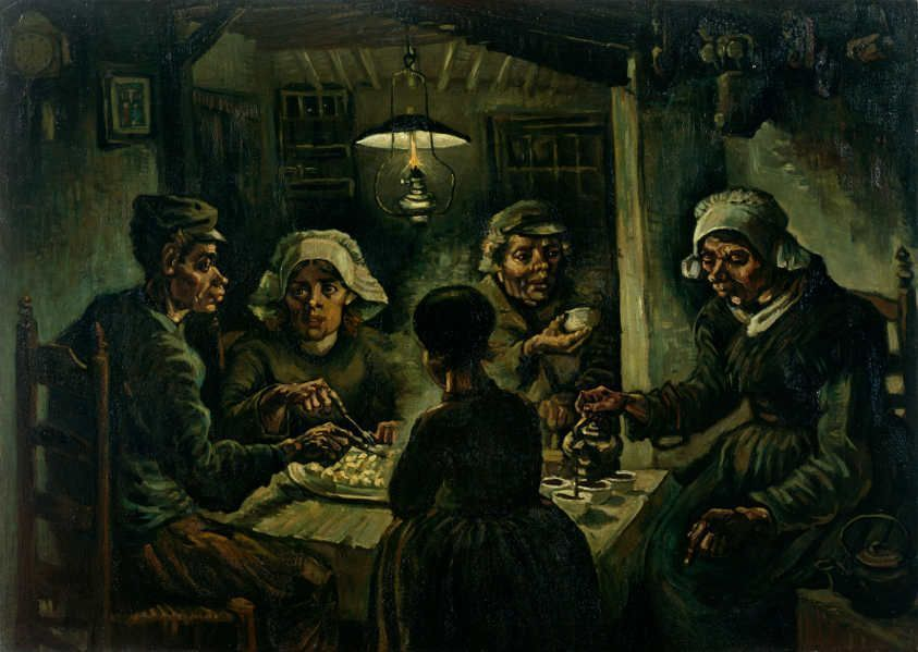 Vincent van Gogh, Die Kartoffelesser, 1885, Öl auf Leinwand, 81,5 × 114,5 cm (Amsterdam, Van Gogh Museum)