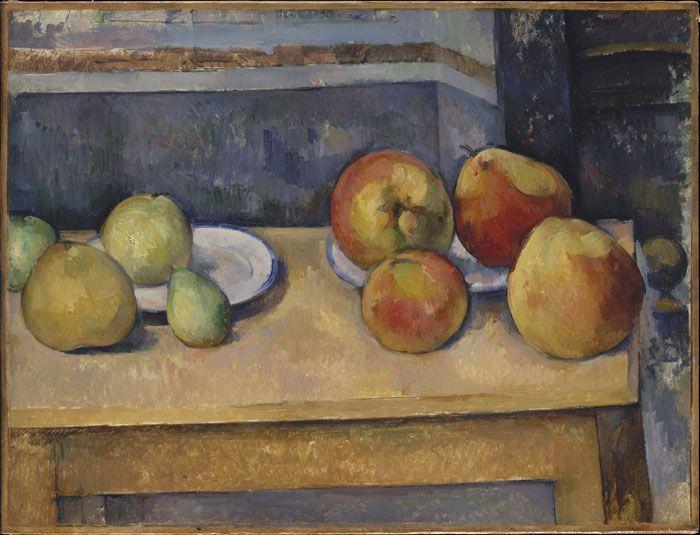 Paul Cézanne, Grosses pommes, um 1891-92, Öl auf Leinwand, 44,8 x 58,7 cm, The Metropolitan Museum of Art, New York, Legat Stephen C. Clark, 1960.