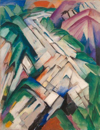 Franz Marc, Steiniger Weg (Gebirge/Landschaft), 1911 (übermalt 1912), Öl auf Leinwand, 130,8 x 101 cm, San Francisco Museum of Modern Art, Geschenk des Women's Board and Friends of the Museum.
