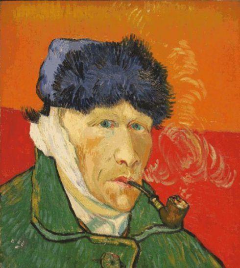 Vincent van Gogh, L`Homme à la pipe (Selbstbildnis [Mann mit Pfeife]), 1889, Privatsammlung.