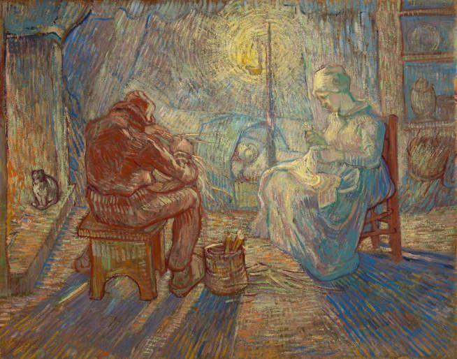 Vincent van Gogh, Abend (nach Jean-François Millet), 1889, Öl auf Leinwand, 74,2 x 93 cm, Van Gogh Museum, Amsterdam (Vincent van Gogh Foundation), inv. s174V/1962 © Van Gogh Museum, Amsterdam (Vincent van Gogh Foundation).
