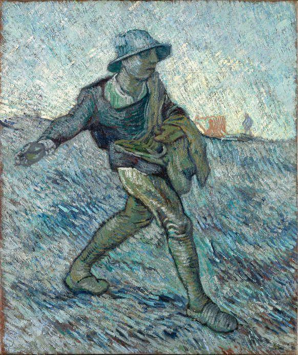 Vincent van Gogh, Der Sämann (nach Jean-François Millet), 1890, Öl auf Leinwand (Kröller-Müller Museum, Otterloo, inv. KM 110.673 © Stichting Kröller-Müller Museum)