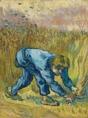 Vincent van Gogh, Der Schnitter (nach Jean-François Millet), 1889, Öl auf Leinwand, 44 x 33 cm, Van Gogh Museum, Amsterdam (Vincent van Gogh Foundation, Amsterdam, Inv. s 198V/1962)
