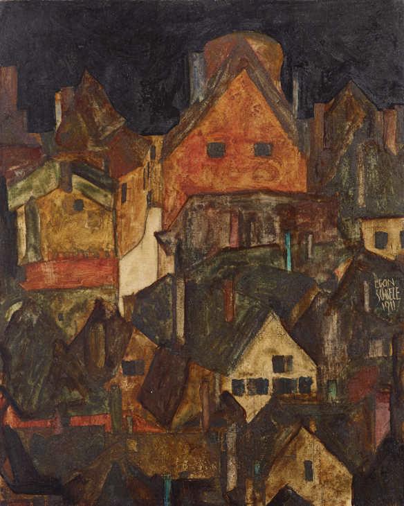 Egon Schiele, Krumau bei Nacht (Tote Stadt II), 1911 © Privatsammlung.