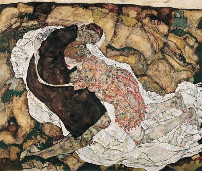 Egon Schiele, Tod und Mädchen (Mann und Mädchen), 1915 © Belvedere, Wien, Foto: Belvedere Wien
