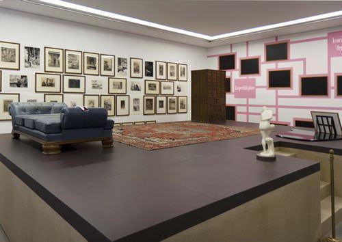 """Falk Haberkorn, Delphi – Max Klinger/Daniel Paul Schreber, Ausstellungsfoto: """"Weltenschöpfer"""" im MdbK Leipzig 2013, Foto: Museum der bildenden Künste Leipzig."""