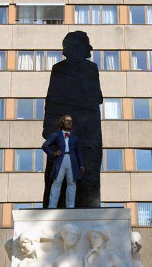 Stephan Balkenhol, Wagner-Denkmal, Leipzig 2013, Foto: Alexandra Matzner.