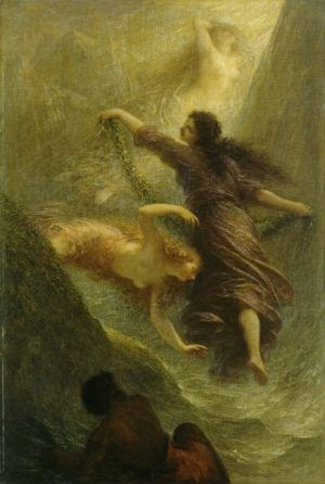 Henri Fantin-Latour (1836–1904), Das Rheingold, 1888, Öl auf Leinwand, Hamburger Kunsthalle, Foto: Elke Walford.