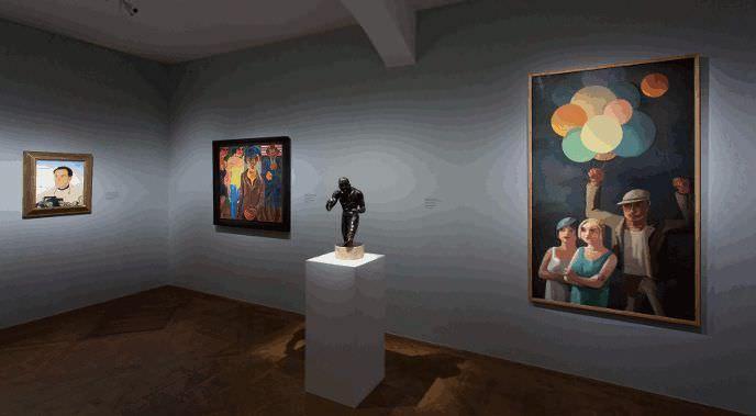 "Ausstellungsansicht ""Wien - Berlin. Kunst zweier Metropolen"" © Belvedere, Wien."
