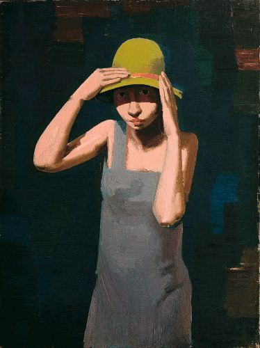 Franz Lerch, Mädchen mit Hut, 1929, Öl auf Leinwand, 80 x 60 cm © Belvedere, Wien.