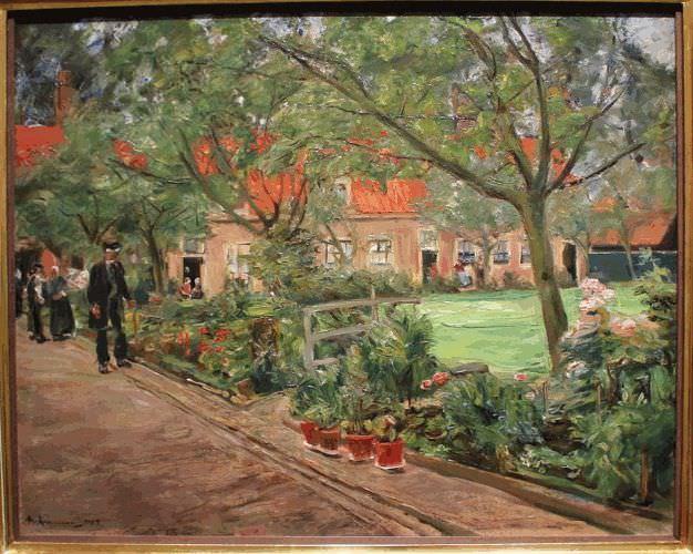 Max Liebermann, Spitalgarten in Edam, 1904, Öl auf Leinwand, 70,5 × 88,5 cm © Belvedere, Wien.