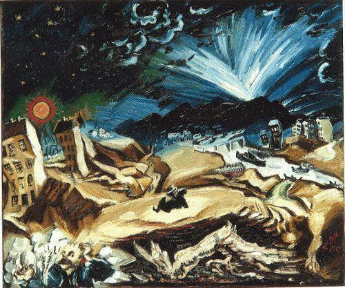 Ludwig Meidner, Apokalyptische Landschaft, 1913, Öl auf Leinwand, 67,3 x 80 cm © Privatsammlung, Courtesy Richard Nagy Ltd., London.