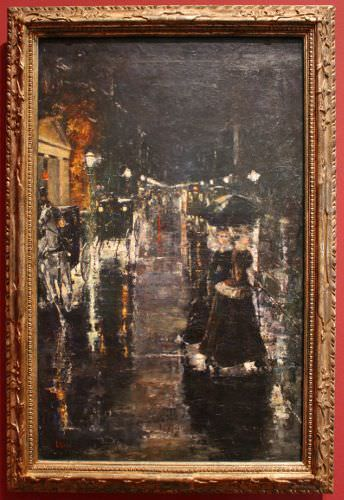 Lesser Ury, Berliner Straßenszene, (Leipziger Straße), 1889, Öl auf Leinwand, 107 × 68 cm © Berlinische Galerie, erworben aus Mitteln der Stiftung Deutsche Klassenlotterie, Berlin 1978.