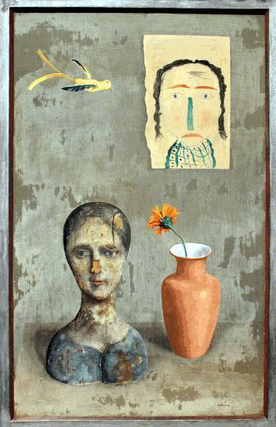 Rudolf Wacker, Zwei Köpfe, 1932, Öl auf Holz, 100 × 63 cm © Belvedere, Wien.