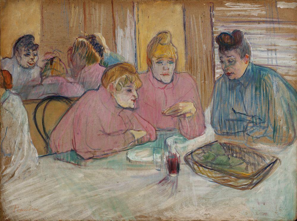 Henri de Toulouse-Lautrec, Diese Damen im Esszimmer, 1893–1895, Öl auf Leinwand, 60,2 x 80,7 cm, Szepmüveszeti Muzeum, Budapest © Szepmüveszeti Muzeum, Budapest.