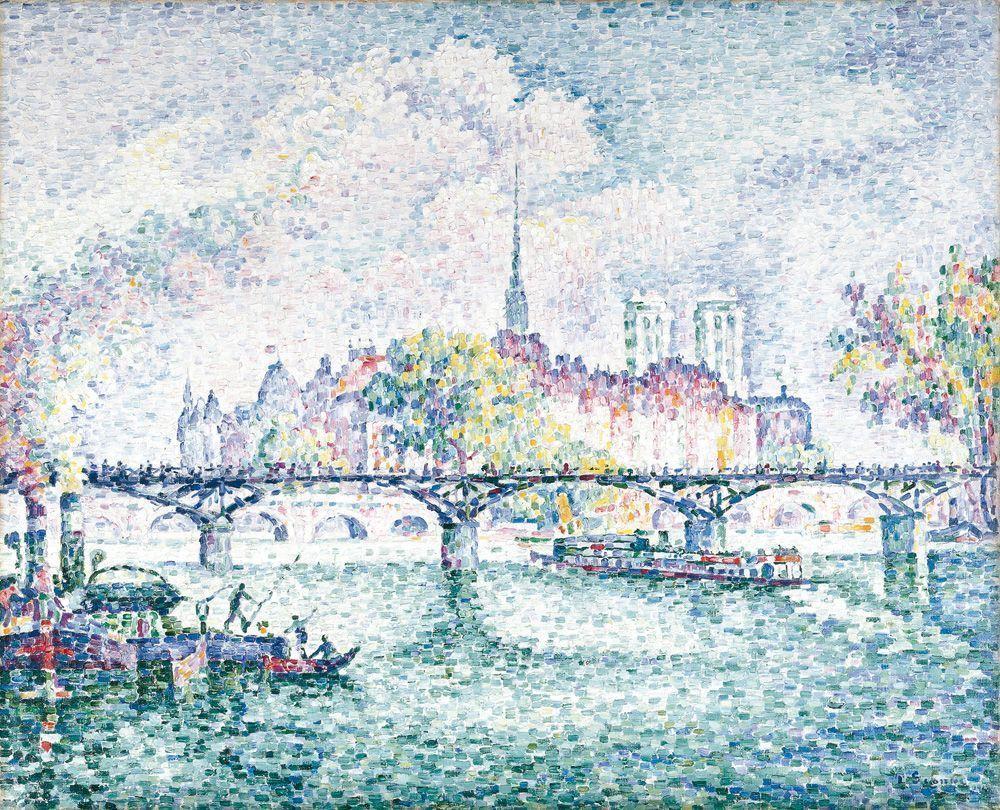 Paul Signac, Le Pont des Arts, Paris, Île de la cité, 1912, Öl auf Leinwand, 81 x 100,1 cm (Museum Folkwang, Essen)