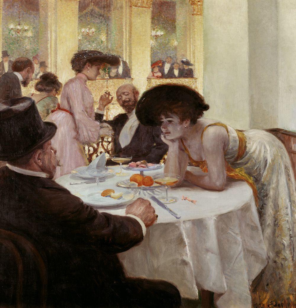 Josef Engelhart, Loge im Sofiensaal, 1903, Öl auf Leinwand, 100 x 95 cm, Wien Museum.