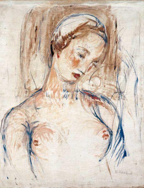 Wilhelm Lehmbruck, Brustbild Frau L. (Anita Lehmbruck), 1912, Öl Auf Leinwand, 100 × 77 cm (Lehmbruck Museum, Duisburg)