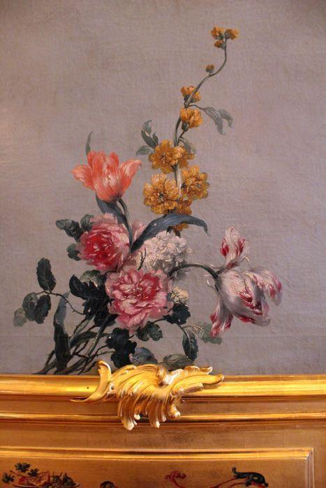 Das Winterpalais des Prinzen Eugen, Goldkabinett, Detail der Blumenmalerei, Foto: Alexandra Matzner.