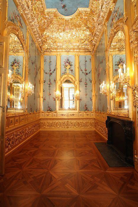Das Winterpalais des Prinzen Eugen, Goldkabinett, Wand, Foto: Oskar Schmidt, © Belvedere, Wien.