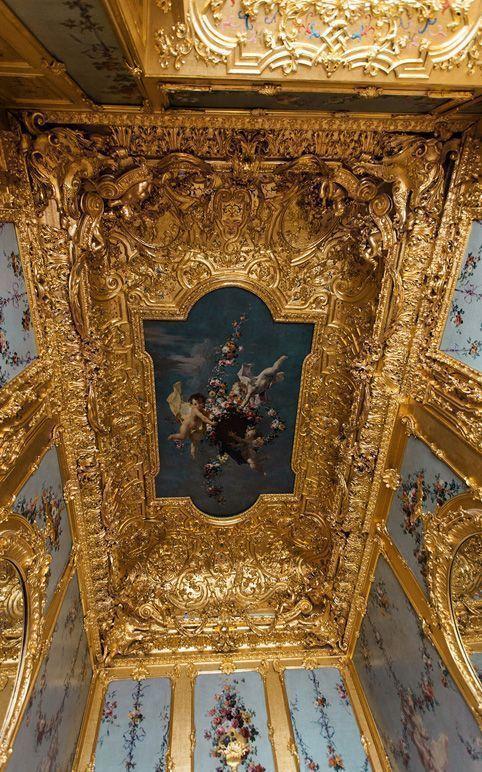 Das Winterpalais des Prinzen Eugen, Goldkabinett, Decke, Foto: Oskar Schmidt, © Belvedere, Wien.