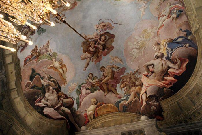 Das Winterpalais des Prinzen Eugen, Blauer Salon / Paradezimmer, Herkules Vermählung mit Hebe von Dorigny und Chiarini, um 1709, Foto: Alexandra Matzner.