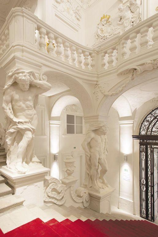 Das Winterpalais des Prinzen Eugen, Stiegenhaus, Foto: Oskar Schmidt, © Belvedere, Wien.