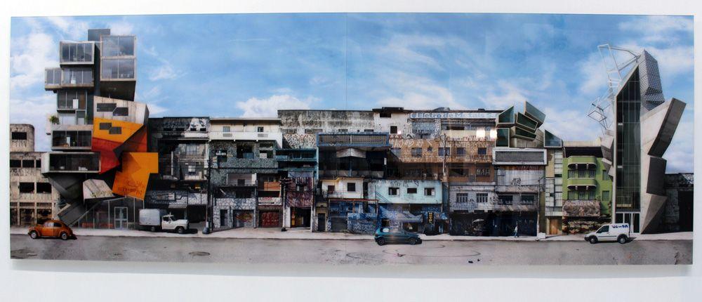 Dionisio Gonzalez, Comercial Santo Amaro, 160 x 450 cm, Installationsansicht, Foto: Alexandra Matzner
