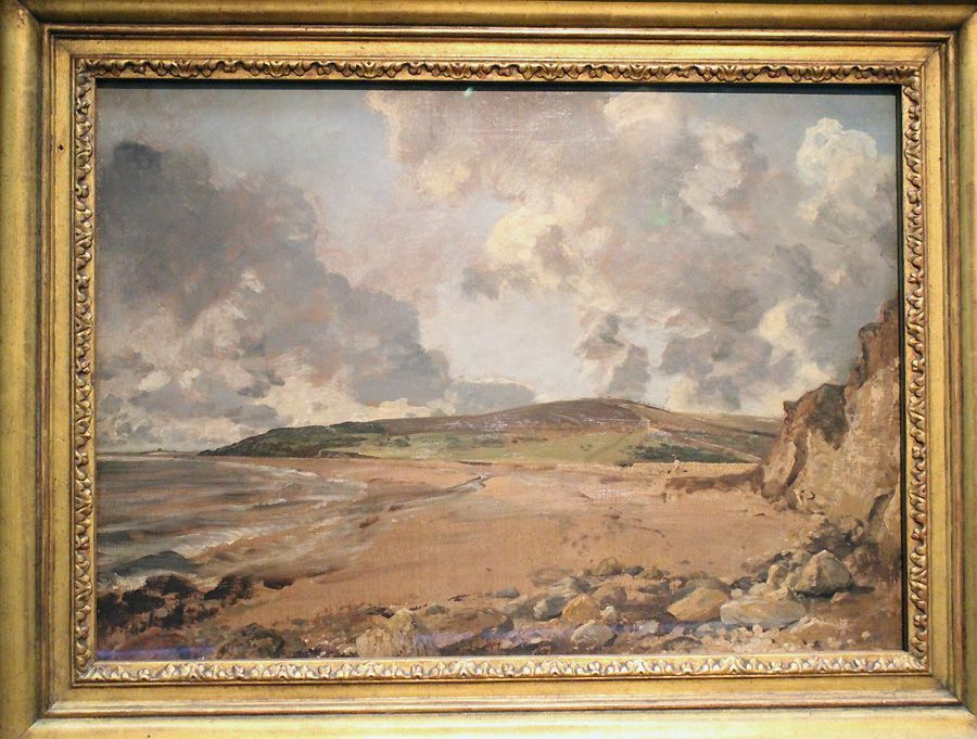 "John Constable, Weymouth Bay mit Blick auf Jordan Hill, um 1816 (The National Gallery, London), Installationsansicht ""Wolken"" im Leopold Museum, Foto: Alexandra Matzner."