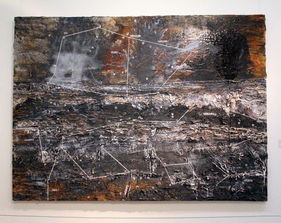 """Anselm Kiefer, Constellation, 2004 (Sammlung Thaddaeus Ropac, Paris + Salzburg), Installationsansicht """"Wolken"""" im Leopold Museum, Foto: Alexandra Matzner."""