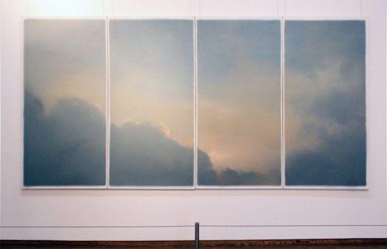"""Gerhard Richter, Wolken (Fenster), 1970 (Essl Museum Klosterneuburg/Wien), Installationsansicht """"Wolken"""" im Leopold Museum, Foto: Alexandra Matzner."""