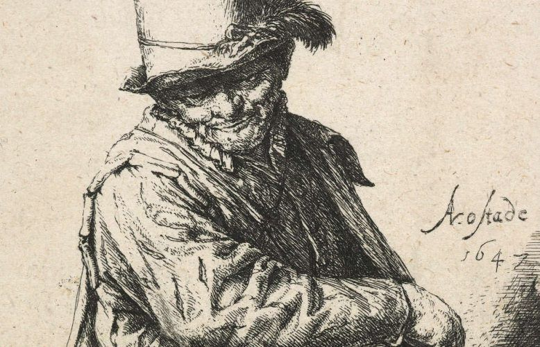 Adriaen van Ostade, Der Leiermann, Detail, um 1647