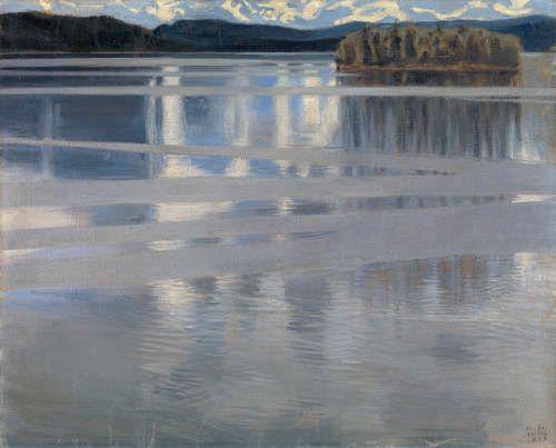 Akseli Gallen-Kallela, Lake Keitele [Keitele], 1904, Öl/Lw, 59 × 74 cm (Privatsammlung © Photo courtesy of the owner)