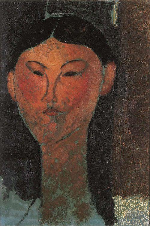 Amedeo Modigliani, Beatrice Hastings, 1915, Öl/Papier, 40 x 28,5 cm (Privatsammlung)