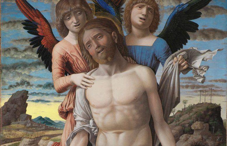 Andrea Mantegna, Christus als Schmerzensmann, Detail, Kopenhagen
