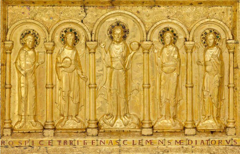 Baseler Antependium, Detail, vor 1019, 120 x 175 cm (© Paris, Musée de Cluny - Musée national du Moyen Âge)
