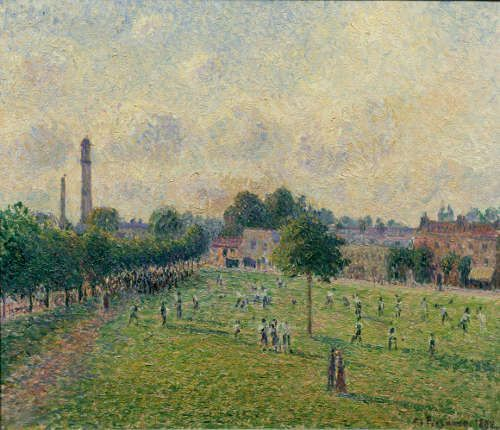 Camille Pissarro, Kew Green, 1892, Öl/Lw, 46 x 55 cm (Musée d'Orsay, Paris)