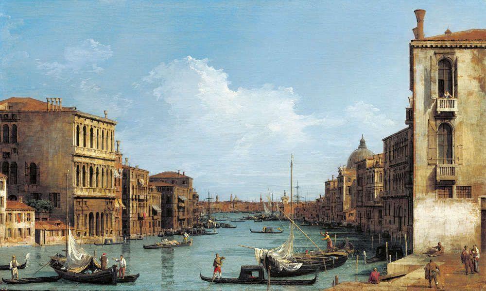 Canaletto, Canal Grande nach Osten vom Campo San Vio nach dem Bacino, um 1727/28, aus einer Serie von zwölf Ansichten des Canal Grande (Royal Collection Trust/© Her Majesty Queen Elizabeth II 2017)