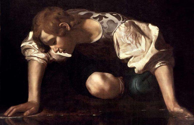 Caravaggio, Narziss, Detail, 1598/99 (© Photo: Gallerie Nazionali di Arte Antica die Roma – Bibliotheca Hertziana, Istituto Max Planck per la storia dell'arte / Enrico Fontolan)