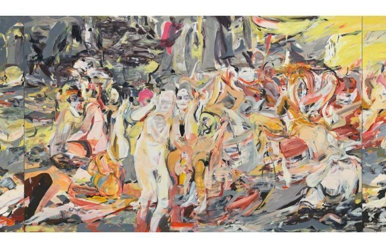 Cecily Brown, Where, When, How Often and with Whom?, Detail, 2017, Öl/Leinen, 277 x 1008 cm (3-teilig) (© Cecily Brown. Courtesy of the artist)