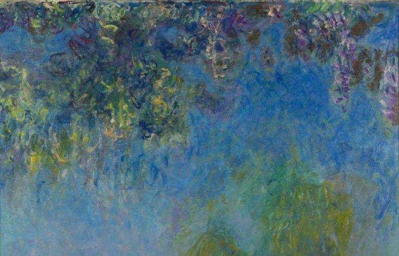 Claude Monet, Glyzinie, Detail, 1917-1920, Öl/Lw, 50.5 x 200.5 cm (Gemeentemuseum, Den Haag, Inv.-Nr. 0333516)