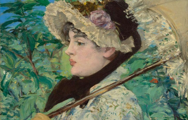 Edouard Manet, Jeanne (Frühling), Detail, 1881 (The J. Paul Getty Museum, Los Angeles)