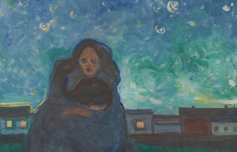 Edvard Munch, Unter den Sternen, Detail, 1900-1905, Öl/Lw, 90 x 129 cm (Munchmuseet Oslo)