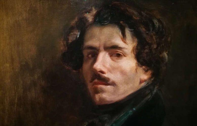 Eugène Delacroix, Selbstporträt, Detail, um 1837, Öl auf Leinwand, 65 x 54.5 cm (Musée du Louvre, Paris (RF 25) © RMN-Grand Palais (musée du Louvre) / Jean-Gilles Berizzi), Foto: Alexandra Matzner, ARTinWORDS