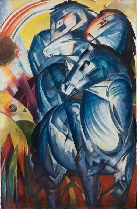 Factum Arte, Rekonstruktion von Franz Marc, Der Turm der blauen Pferde © Factum Arte