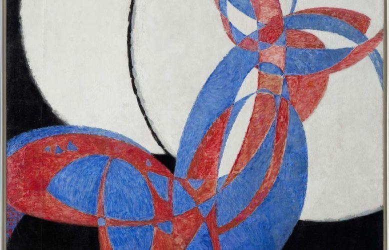 Frantisek Kupka, Amorfa, Fuge in zwei Farben, Detail, 1912, Öl/Lw, (Nationalgalerie Prag, Prag)
