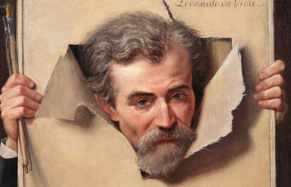 Georges Méliès, Bildnis eines Mannes, um 1883, Detail, 63,5 x 52 cm, Öl/Leinwand (Wallraf-Richartz-Museum & Fondation Corboud, Köln © Rheinisches Bildarchiv Köln)
